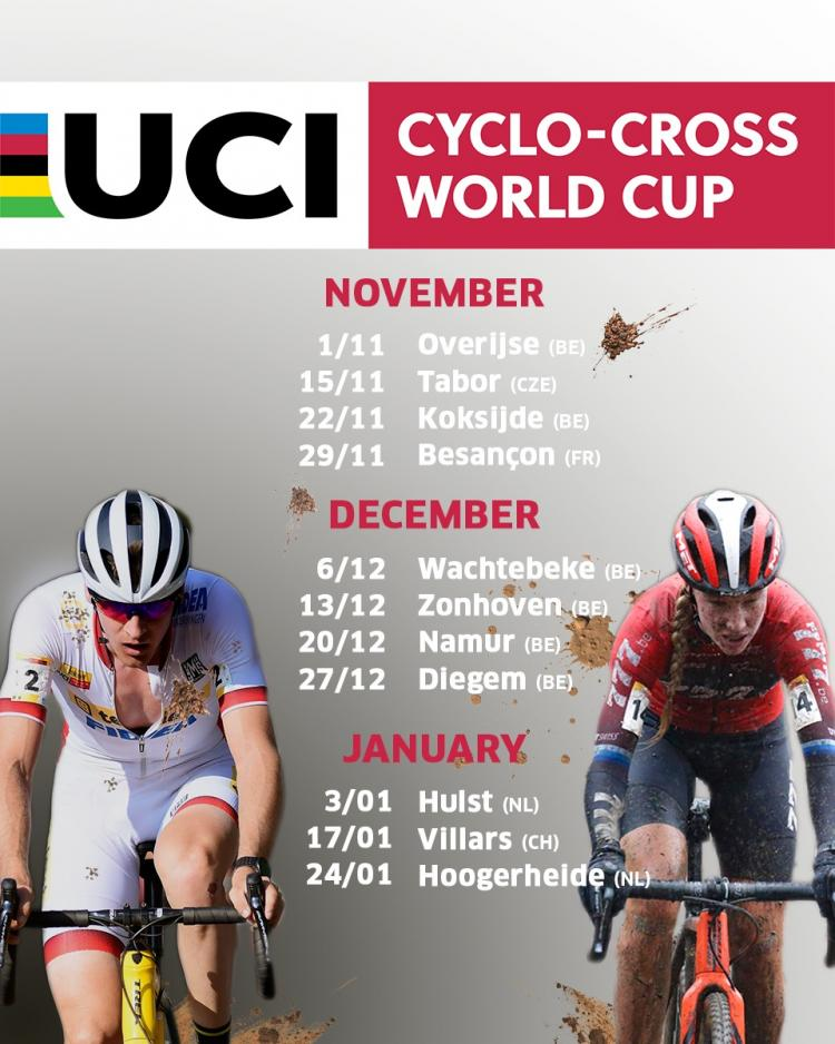 Calendrier Cyclo Cross 2021 2022 Revised calendar of the 2020   2021 UCI Cyclo cross World Cup to